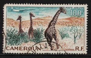 Cameroon 1955 Air Mail / Various Designs 100F (1/3) USED
