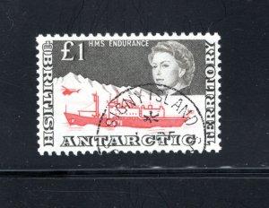British Antarctic Territory #24, XF, Used, CV $170.00  ..... 0790004