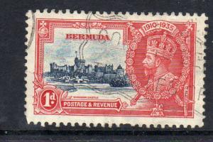 BERMUDA #100  1935  1p  SILVER JUBILEE       F-VF USED