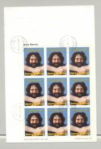 Tanzania #1412 Jerry Garcia, Music 1v M/S of 9 on FDC