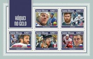 HERRICKSTAMP NEW ISSUES GUINEA BISSAU Ice Hockey Sheetlet