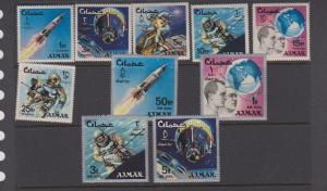 AJMAN (10) STAMPS USED   LOT#490