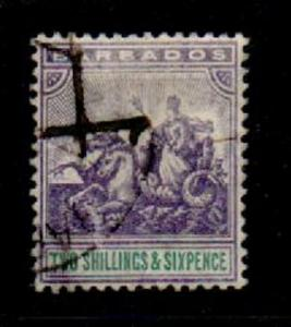 BARBADOS SG144 1905 2/6 VIOLET & GREEN USED