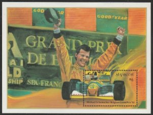 St. Vincent #1762 MNH Grand Prix Souvenir Sheet cv $5.50