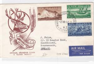 new zealand 1959  stamps cover  ref 12187