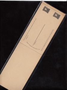 USPS #UY1BG-c 1878 BROOKS PATENT REPLY CARD VF NO GUM USPS CV $1K WL3423