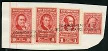 Stati Uniti Revenuedocumentary Francobolli Usato Su Carta Come Mostrato