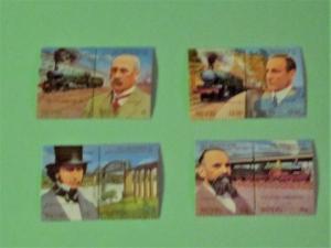 Nevis - 438-41. MNH Set (Pairs).Railway Anniversary. SCV - $2.35