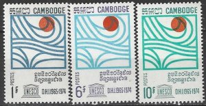 Cambodia  185-7  MNH  UNESCO Hydro Survey