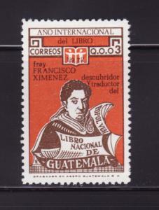Guatemala 425 MNH Brother Francisco Ximénez (A)