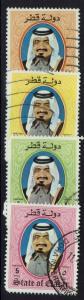 Qatar SC# 654, 655, 657 and 658, Used, Minor Crease # 655 - Lot 110616