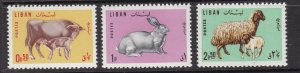 LEBANON ^^^^^sc# 440-442 MNH set  ( Farm animals ) $$@ dcc436lib