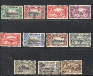 Sierra Leone Sc 173//183 G VI part stamp set to 5 shilling used