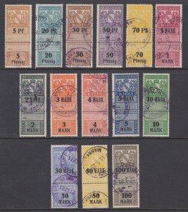 Germany, Baden, 1914 Kostenmarken Fee Revenues, 14 different, used, sound, F-VF.
