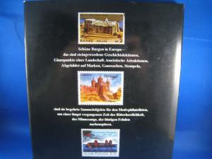 PHILATELIC BOOK - SCHONE BURGEN IN EUROPA - GERMAN HARDCOVER - 185 PAGES