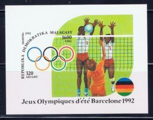 Malagasy 1078A NH 1992 Olympiics souvenir sheet