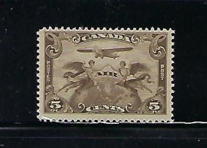 CANADA SCOTT #C1 1921  AIR MAIL 5 CENTS - MINT LIGHT HINGED