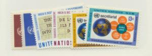 United Nations (New York) Scott #175 to 178 and 181 to 182 From 1967, Mint Ne...