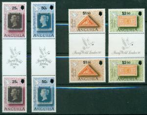 ANGUILLA SCOTT #'s 816-819, STAMPS GUTTER PAIR SET, MINT, OG, NH, GREAT PRICE!