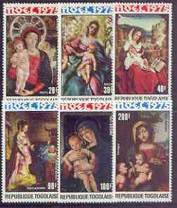 Togo 1975 Christmas - Paintings of \'Virgin & Child\'...