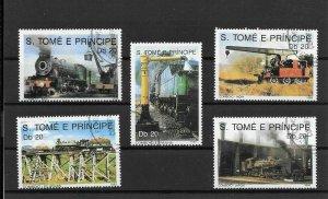 (K01) SAO TOME AND PRINCIPE / 1989 - LOCOMOTIVES (Train), Used