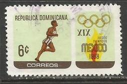 Dominican Republic 644 VFU OLYMPICS RUNNER R10-107-5