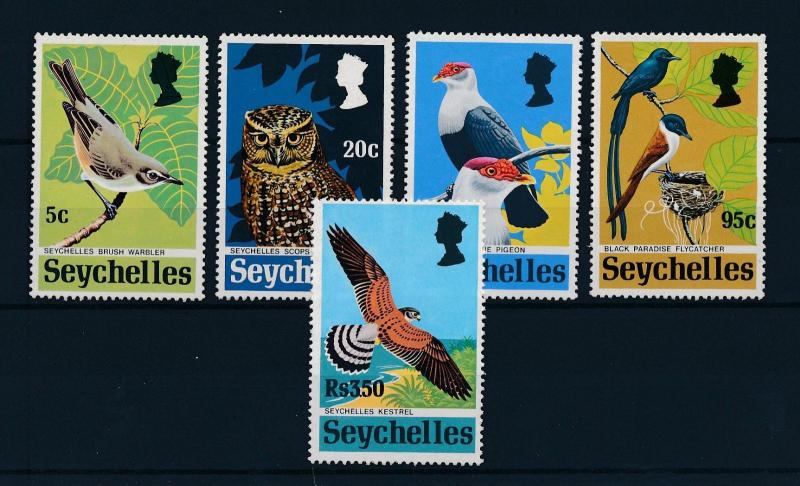 [60051] Seychelles 1972 Birds Vögel Oiseaux Ucelli 5 Values MLH