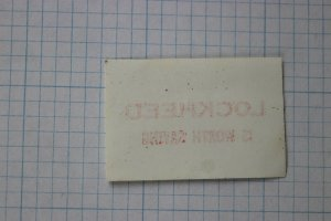 Lockheed is worth saving Company ad label stamp single only