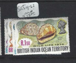 BRITISH INDIAN OCEAN TERRITORY  (PP1303B)  SEA SHELLS  SC 59-2  MNH
