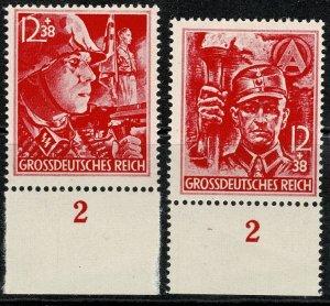 GERMANY 1945 12th ANNIVERSARY of THIRD REICH MARGIN MINT(NH) SG897-8 P.14 SUPERB