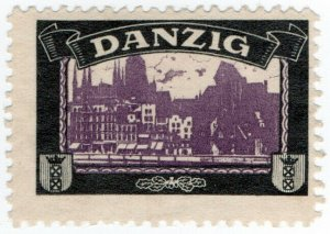 (I.B) Germany Cinderella : Lost Colony Label (Danzig)