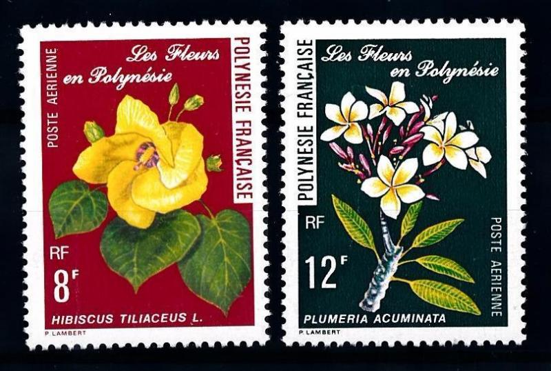 [62010] French Polynesia 1977 Flora Flowers Blumen Airmail stamps MNH