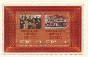 Lithuania Sc 637 1999 America in the Baths stamp sheet mint NH
