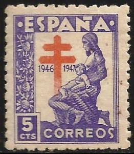 Spain Postal Tax 1921 Scott# RA21 MNH (Gum Disturbance)