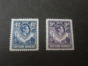 Northern Rhodesia 1952 Sc 37,39 MNH