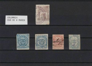 COLOMBIA CUN DI A MARCA  MINT AND USED STAMPS REF 4369