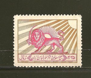 Persia Red Lion & Sun Postal Tax (1) Used