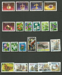 Jersey A Selection of Good Used Stamps Good CV