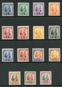 Sarawak SG91/105 1932 Set of 15 Fresh M/Mint