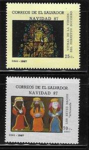El Salvador 1987 Christmas Sc 1162-1163 MNH A1357