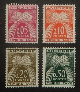 French  Andorra J42-45. 1961 Postage Dues