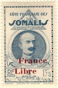 Somali Coast #215  Mint OG F-VF hr...Fill out your French Colony spaces!