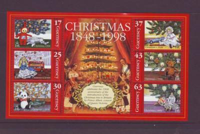 Guernsey Sc 669a 1998 Christmas stamp sheet mint NH