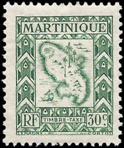 Martinique 1947 #J39 Mint H