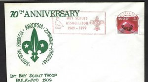 1979 Rhodesia Scout 70th anniversary 1st Troop meter