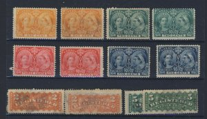 12x Canada Stamps 2x each Mint Jubilees #51-52-53-54 & Used F1-F2  GV= $242.00