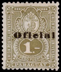 Paraguay Scott O49 (1902) Mint H F-VF B