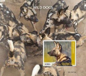 SIERRA LEONE - 2019 - Wild Dogs - Perf Souv Sheet - MNH