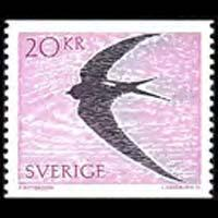 SWEDEN 1988 - Scott# 1703 Bird-Common Swift Set of 1 LH