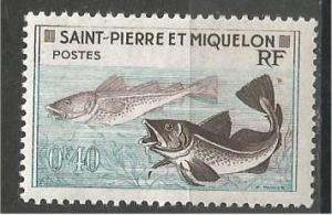 ST. PIERRE & MIQUELON, 1957, MNH 40c, Codfish Scott 351